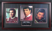 "William Shatner, Leonard Nimoy & DeForest Kelly Signed ""Star Trek"" 18x32 Custom Framed Photo Display (JSA Hologram) at PristineAuction.com"