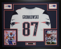 Rob Gronkowski Signed New England Patriots 35x43 Custom Framed Jersey (Steiner COA) at PristineAuction.com