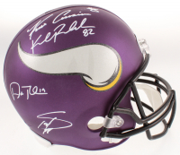 Vikings Full-Size Helmet Signed by (4) with Adam Thielen, Stefon Diggs, Kirk Cousins & Kyle Rudolph (TSE COA) at PristineAuction.com