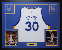 Stephen Curry Signed 35x43 Custom Framed Jersey (Steiner COA) at PristineAuction.com