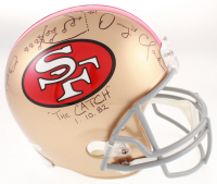 "Joe Montana & Dwight Clark Signed San Francisco 49ers Full-Size Helmet Inscribed ""The Catch 1.10.82"" & Hand-Drawn Play (Beckett Hologram & TSE COA) at PristineAuction.com"