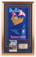 "Disneyland Fantasyland ""Peter Pan"" 17x28 Custom Framed Print Display with Vintage Ticket & Booklet at PristineAuction.com"