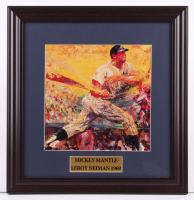 "LeRoy Neiman ""Mickey Mantle"" 16x16.5 Custom Framed Print Display at PristineAuction.com"