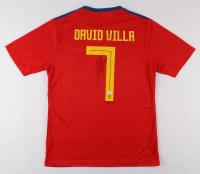 David Villa Signed Spain National Football Team Jersey (JSA COA) at PristineAuction.com