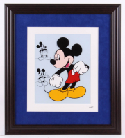 "Walt Disney's ""Mickey Mouse"" 16.5x18.5 Custom Framed Hand-Painted Animation Serigraph Display at PristineAuction.com"