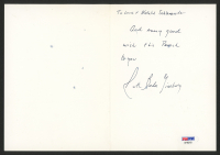 Ruth Bader Ginsburg Signed 5x7 Greeting Card with Hand-Written Note (PSA Hologram) at PristineAuction.com