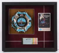 Disneyland 15.5x17.5x2 Custom Framed Ashtray Shadowbox Display with Vintage Booklet & Ticket at PristineAuction.com