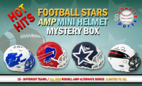Schwartz Sports Hot Hits - Football Stars Signed AMP Alternate Mini Helmet Mystery Box – Series 1 (Limited to 15) at PristineAuction.com