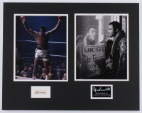 Muhammad Ali 16x20 Custom Matted Cut Display with (1) Hand-Written Word from Index Card (JSA LOA Copy) at PristineAuction.com