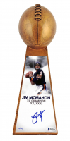 """Jim McMahon Signed LE Chicago Bears 15"""" Championship Lombardi Trophy (Beckett COA) at PristineAuction.com"""