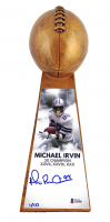 """Michael Irvin Signed LE Dallas Cowboys 15"""" Lombardi Trophy (Beckett COA) at PristineAuction.com"""