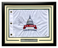 Phil Mickelson Signed 2011 US Open 21x27 Custom Framed Pin Flag Display (Beckett COA) at PristineAuction.com
