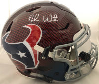 Deshaun Watson Signed Houston Texans Full-Size Authentic On-Field Hydro Dipped SpeedFlex Helmet with Visor (Watson Hologram) at PristineAuction.com