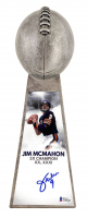 "Jim McMahon Signed Chicago Bears 15"" Lombardi Trophy (Beckett COA) at PristineAuction.com"