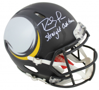 "Randy Moss Signed Vikings Full-Size Authentic On-Field AMP Alternate Speed Helmet Inscribed ""Straight Cash Homie"" (Beckett COA) at PristineAuction.com"