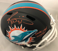 """Ricky Williams Signed Miami Dolphins Full-Size Matte Black Speed Helmet with Visor Inscribed """"Smoke Weed Everyday!"""" (JSA COA) at PristineAuction.com"""