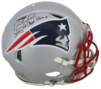 "Randy Moss Signed Patriots Full-Size Authentic On-Field Speed Helmet Inscribed ""Straight Cash Homie"" (Beckett COA) at PristineAuction.com"
