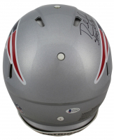 """Randy Moss Signed Patriots Full-Size Authentic On-Field Speed Helmet Inscribed """"Straight Cash Homie"""" (Beckett COA) at PristineAuction.com"""