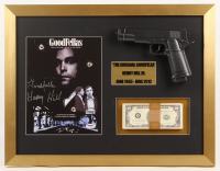 "Henry Hill Signed ""Goodfellas"" 17x22 Custom Framed Photo Display with Replica Gun & Prop Money Inscribed ""Goodfella"" (PSA COA) at PristineAuction.com"