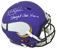 "Randy Moss Signed Vikings Full-Size Matte Purple Authentic On-Field Speed Helmet Inscribed ""Straight Cash Homie"" (Beckett COA) at PristineAuction.com"