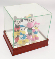 Set of (4) Vintage Disney Ceramic Figurines with High Quality Display Case at PristineAuction.com