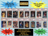Icon Authentic 2019-20 Basketball Series 8 Mystery Box at PristineAuction.com