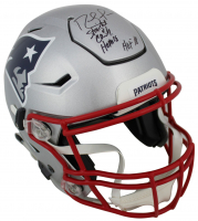 """Randy Moss Signed New England Patriots Full-Size Authentic On-Field SpeedFlex Helmet Inscribed """"Straight Cash Homie"""" & """"HOF 18"""" (Beckett COA) at PristineAuction.com"""