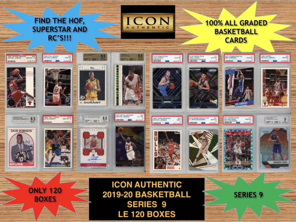 Icon Authentic 2019-20 Basketball Series 9 Mystery Box at PristineAuction.com