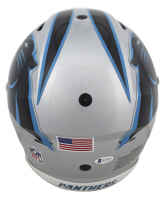 """Luke Kuechly Signed Panthers Full-Size Authentic On-Field SpeedFlex Helmet Inscribed """"Keep Pounding!"""" (Beckett COA) at PristineAuction.com"""