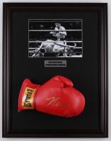 Julio Cesar Chavez Signed 17.5x22.5 Custom Framed Boxing Glove Display (JSA COA) at PristineAuction.com