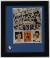 Yogi Berra & Don Larsen Signed New York Yankees 13x15 Custom Framed Photo Display with Pin (PSA COA) at PristineAuction.com
