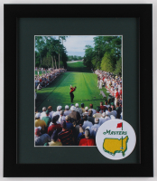 Tiger Woods 13x15 Custom Framed Photo Display with Masters Patch at PristineAuction.com