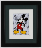 """Walt Disney's """"Mickey Mouse"""" 13x15 Custom Framed Hand-Painted Animation Serigraph Display at PristineAuction.com"""