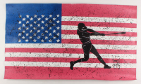 """Rodney Weng - """"America's Pastime"""" 22x37 Original Oil Panting on Linen (PA LOA) at PristineAuction.com"""