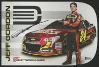 Jeff Gordon Signed NASCAR 7.5x11 Photo (Beckett COA) at PristineAuction.com