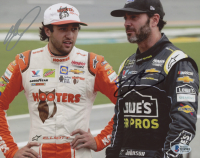 Jimmie Johnson & Chase Elliott Signed NASCAR 8x10 Photo (Beckett COA) at PristineAuction.com
