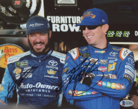 Martin Truex Jr. & Kyle Busch Signed NASCAR 8x10 Photo (Beckett COA) at PristineAuction.com