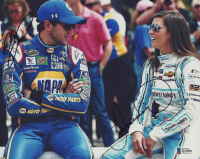 Danica Patrick & Chase Elliott Signed NASCAR 8x10 Photo (Beckett COA) at PristineAuction.com