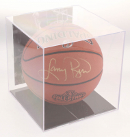 Larry Bird Signed 2017 All-Star Game Basketball with Display Case (PSA COA) at PristineAuction.com