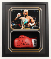 Floyd Mayweather Jr. Signed 22x26x4 Custom Framed Boxing Glove Shadow Box Display (JSA Hologram) at PristineAuction.com