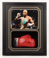 Floyd Mayweather Jr. Signed 22x26x4 Custom Framed Boxing Glove Shadow Box Display (JSA COA) at PristineAuction.com