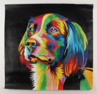 """Rodney Weng - """"Man's Best Friend"""" 29x30 Original Oil Panting on Linen (PA LOA) at PristineAuction.com"""