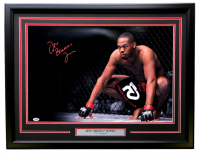 "Jon ""Bones"" Jones Signed 18x29 Framed Photo Display (PSA Hologram & SI COA) at PristineAuction.com"
