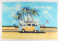 "Rodney Weng - ""Coastline Drive"" 25x37.5 Original Oil Panting on Linen (PA LOA) at PristineAuction.com"