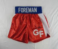 George Foreman Signed Boxing Trunks (Foreman Hologram) at PristineAuction.com