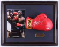 Mike Tyson Signed 17.5x22.5 Custom Framed Boxing Glove (PSA COA) at PristineAuction.com