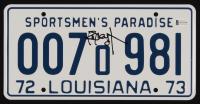"Richard Dreyfuss Signed ""Jaws"" Louisiana License Plate (Beckett COA) at PristineAuction.com"