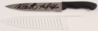 """Nick Castle Signed """"Halloween"""" Stainless Steel Knife with Plastic Knife Sheath (Beckett COA) at PristineAuction.com"""
