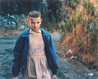 """Millie Bobby Brown Signed """"Stranger Things"""" 16x20 Photo Inscribed """"011"""" & """"Promise?"""" (Beckett COA) at PristineAuction.com"""