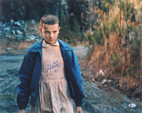 """Millie Bobby Brown Signed """"Stranger Things"""" 16x20 Photo Inscribed """"011"""" (Beckett COA) at PristineAuction.com"""